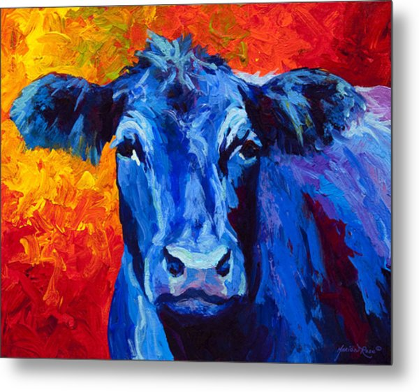 Blue Cow II Metal Print