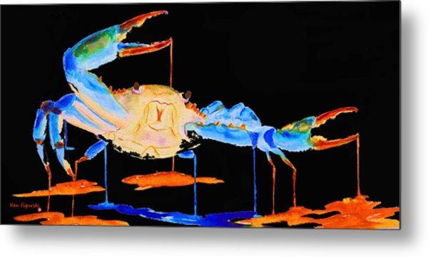 Blue Crab Two Metal Print