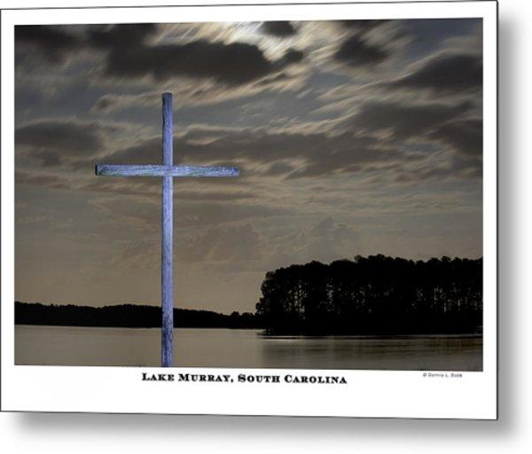 Blue Cross Metal Print by Donnie Bobb