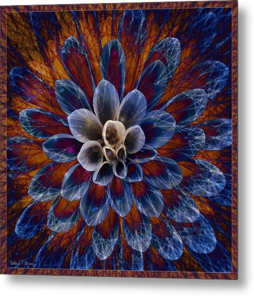 Blue Dahlia Metal Print