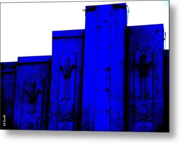 Blue Deco Metal Print