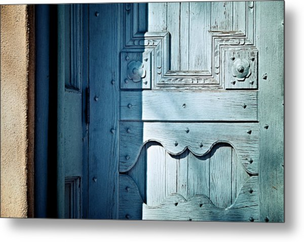 Blue Door Metal Print by Humboldt Street