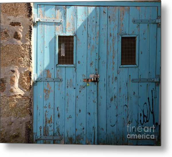 Blue Doors Metal Print