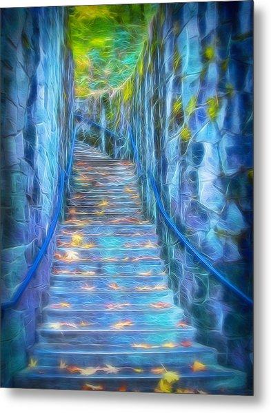 Blue Dream Stairway Metal Print