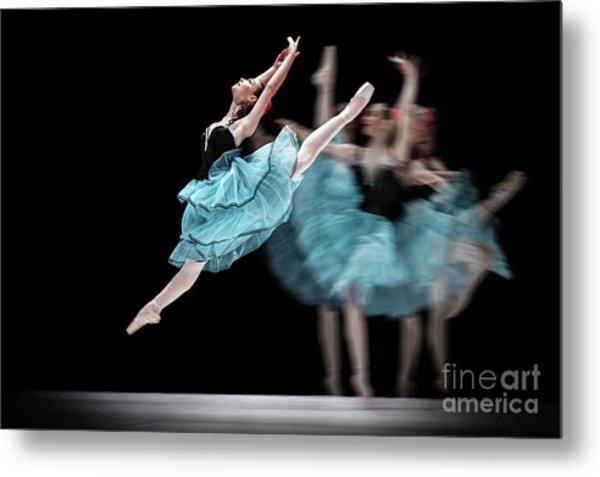 Metal Print featuring the photograph Blue Dress Dance by Dimitar Hristov