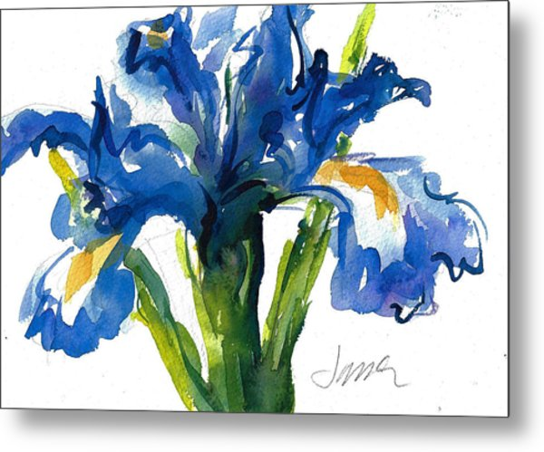 Blue Dutch Iris For Kappa Kappa Gamma Metal Print