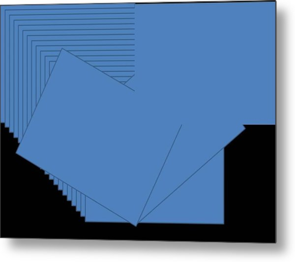 Blue Metal Print by Edith Womack