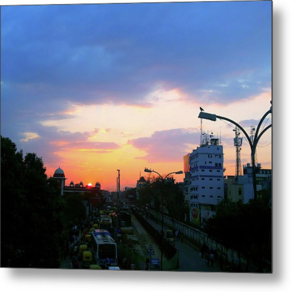 Blue Evening Sky Metal Print