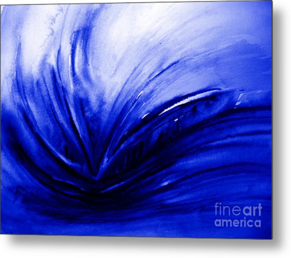 Blue Expression Metal Print