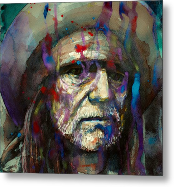 Blue Eyes Crying In The Rain Metal Print