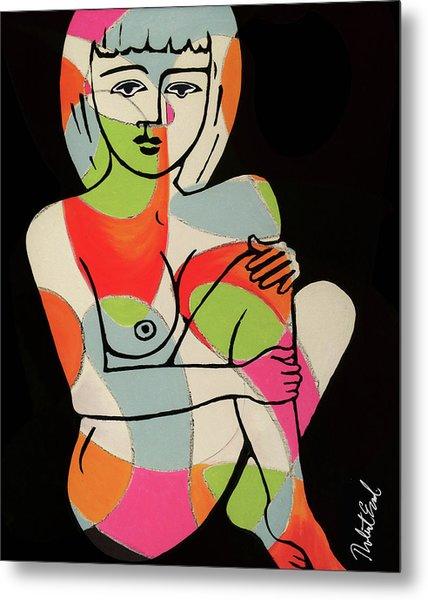 Blue Eyes Nude Female Pose Painting By Robert Erod Print Metal Print