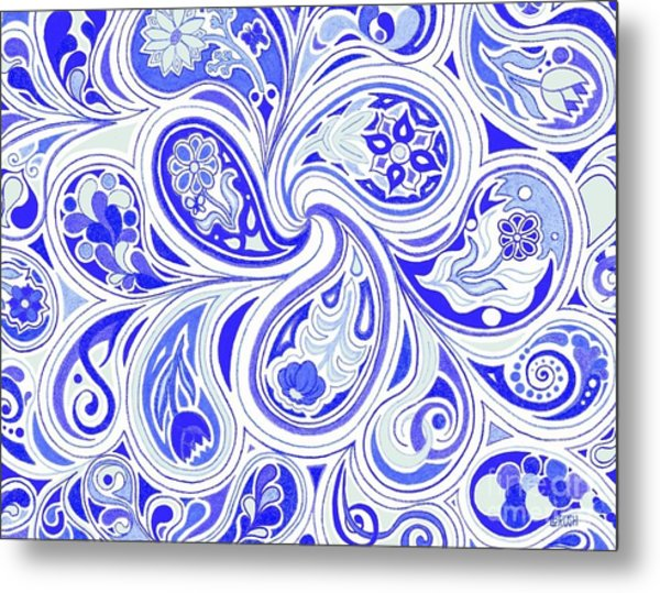 Blue Fantastic Metal Print