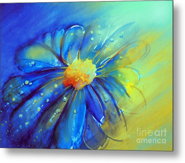 Blue Flower Offering Metal Print