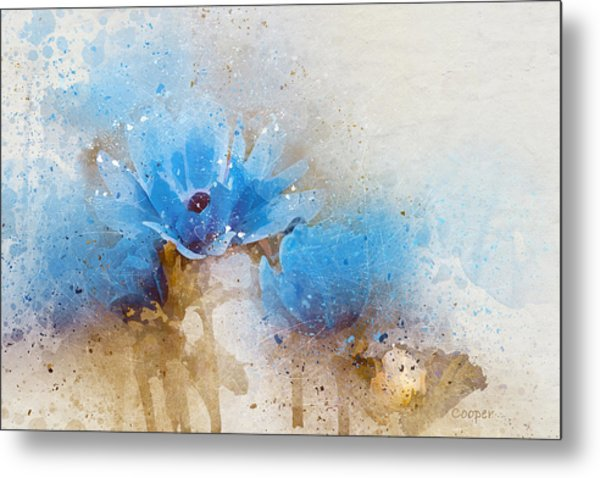 Blue Flowers 4a Metal Print