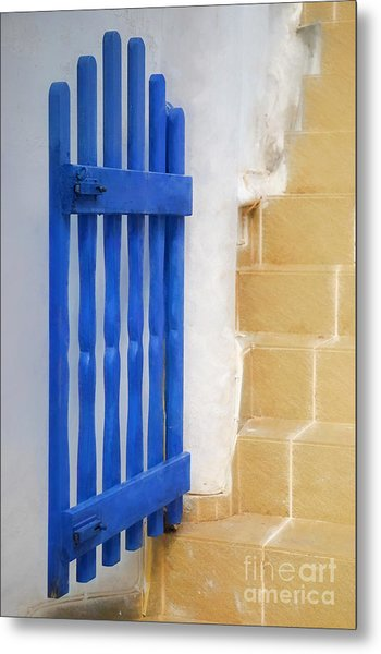 Blue Gate Metal Print by HD Connelly