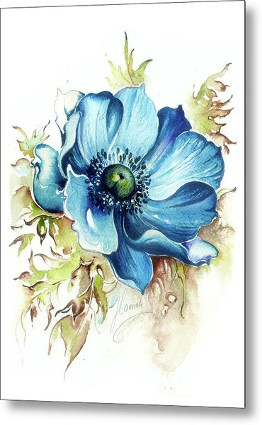 Blue Gem Metal Print