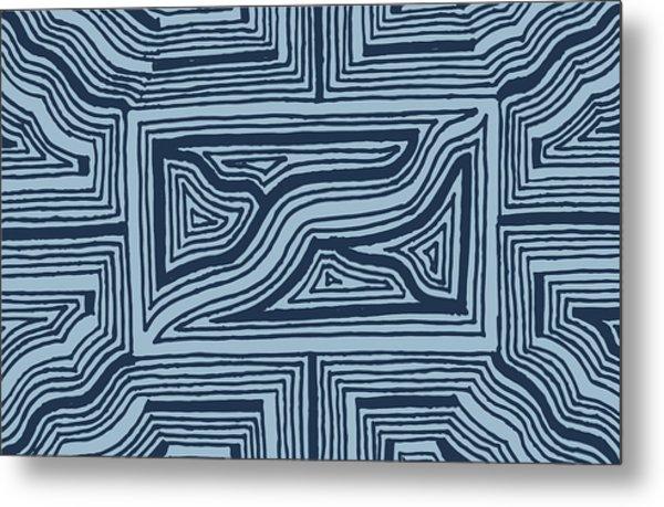 Blue Geo Metal Print