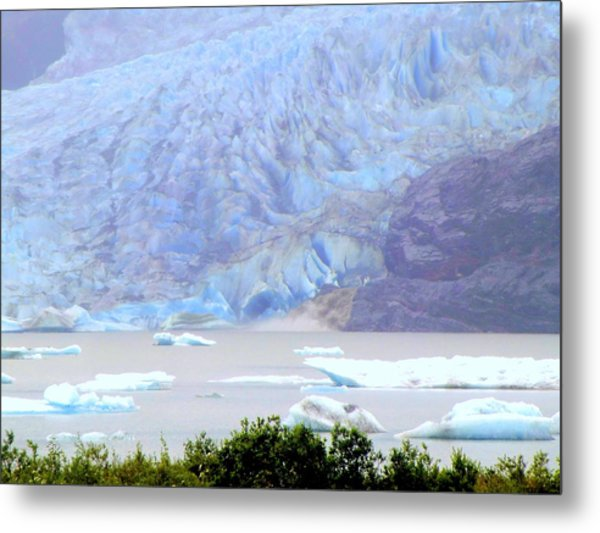 Blue Glacier Metal Print