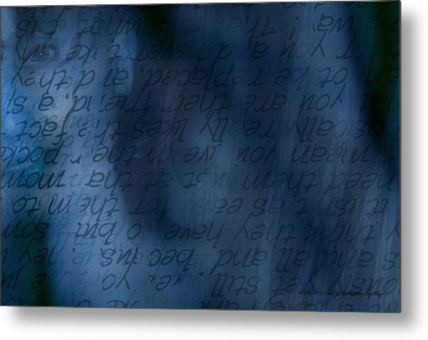 Blue Glimpse Metal Print