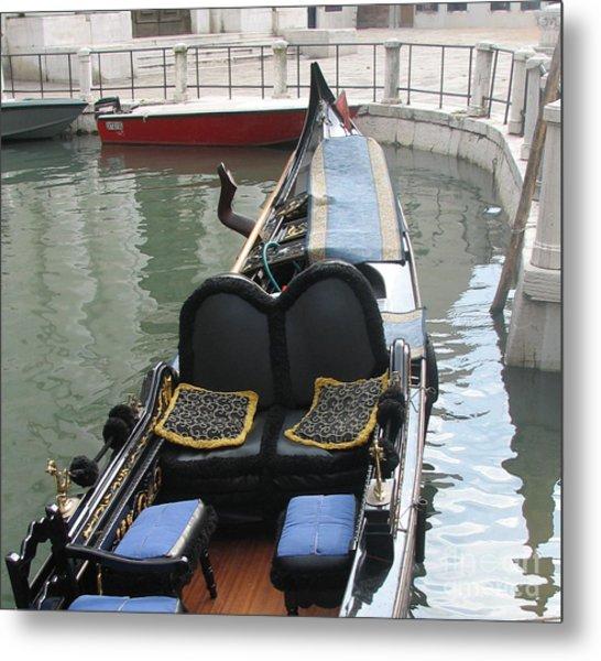 Blue Gondola Metal Print