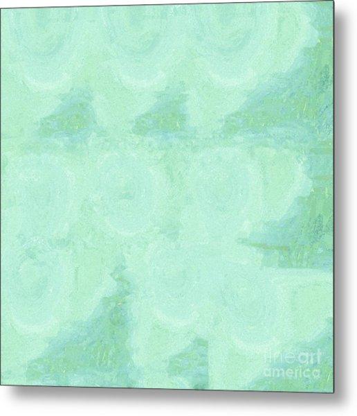 Blue Gray Cotton Fluff Metal Print