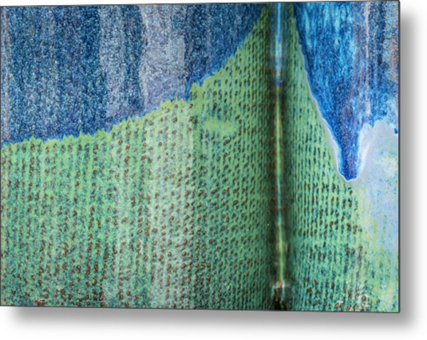 Metal Print featuring the photograph Blue/green Abstract by David Waldrop