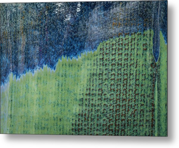 Metal Print featuring the photograph Blue/green Abstract Two by David Waldrop