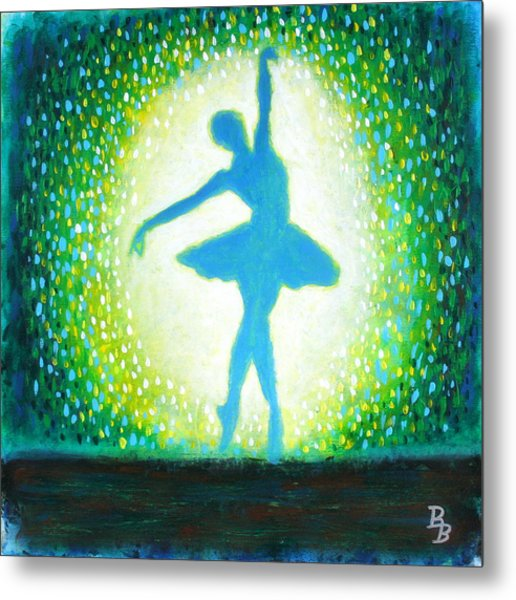 Blue-green Ballerina Metal Print