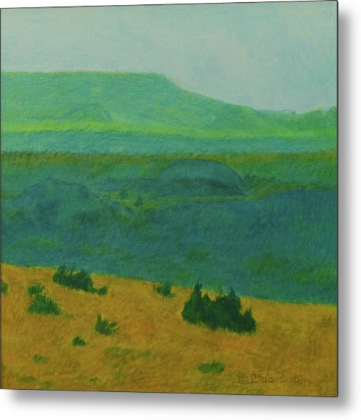 Blue-green Dakota Dream, 2 Metal Print