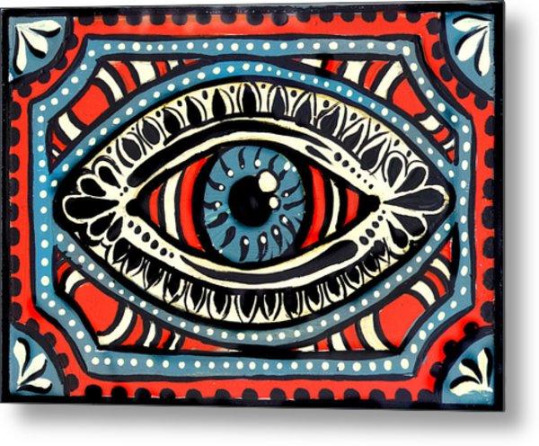 Blue Gypsi Eye Metal Print