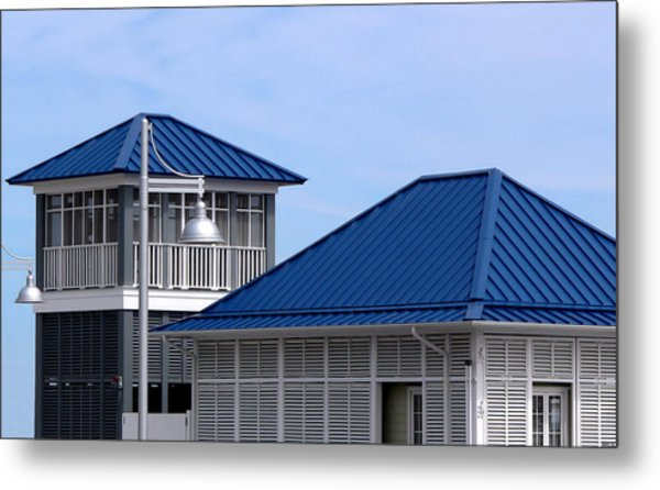Blue Harbor Roofs Metal Print