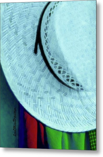 Blue Hat Painting Metal Print