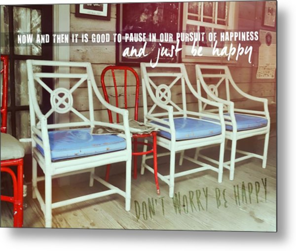 Blue Heaven Quote Metal Print by JAMART Photography