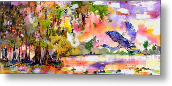 Blue Heron Paradise Metal Print