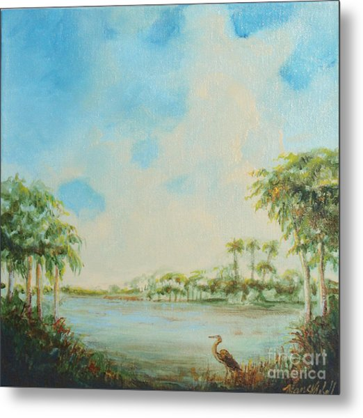 Blue Heron Pointe Metal Print by Michele Hollister - for Nancy Asbell