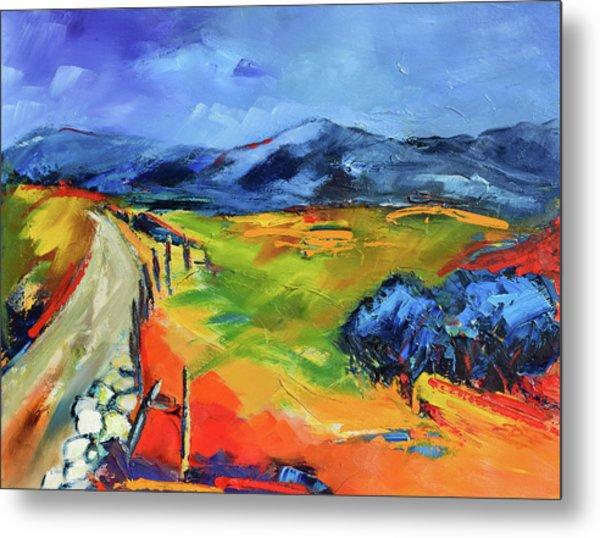 Blue Hills By Elise Palmigiani Metal Print