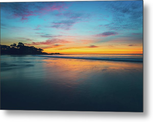 Blue Hour At Carmel, Ca Beach Metal Print