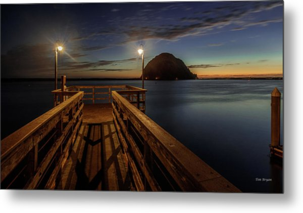 Blue Hour At Morro Bay Metal Print