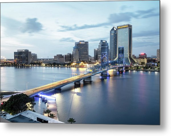Blue Hour In Jacksonville Metal Print