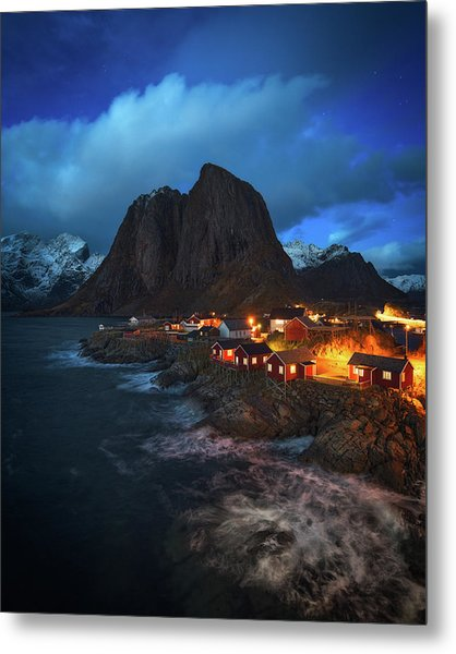 Blue Hour In Lofoten Metal Print