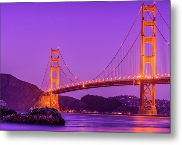 Golden Gate Bridge In The Blue Hour Metal Print