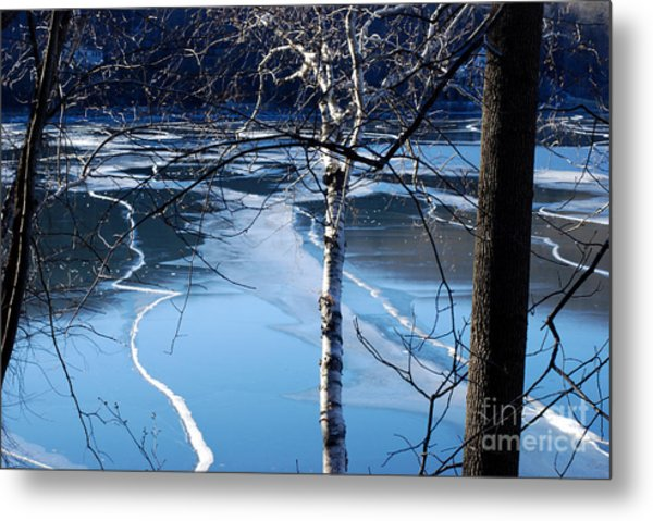 Blue Ice Metal Print by Andrea Simon