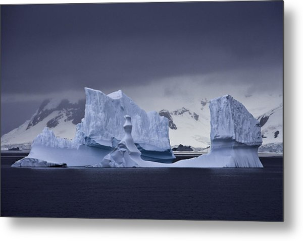 Blue Ice Antarctica Metal Print