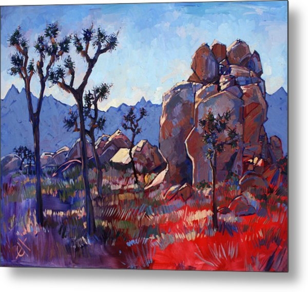 Blue Joshua Rock Metal Print