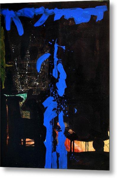 Blue Line Metal Print by Vonitya Anand