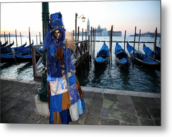 Blue Lips At Sunrise Metal Print
