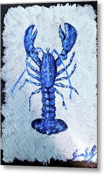 Blue Lobster 1 Metal Print
