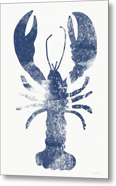 Blue Lobster- Art By Linda Woods Metal Print