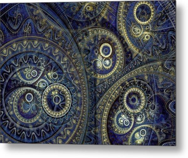 Blue Machine Metal Print