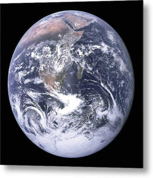 Blue Marble - Image Of The Earth From Apollo 17 Metal Print